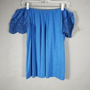 NWT Cable & Guage Embroidered Off The Shoulder